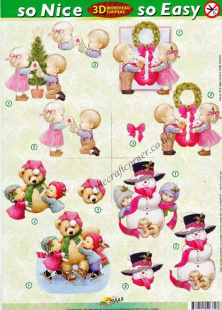 Christmas Children So Nice, So Easy Morehead 3D Die Cut Decoupage Sheet